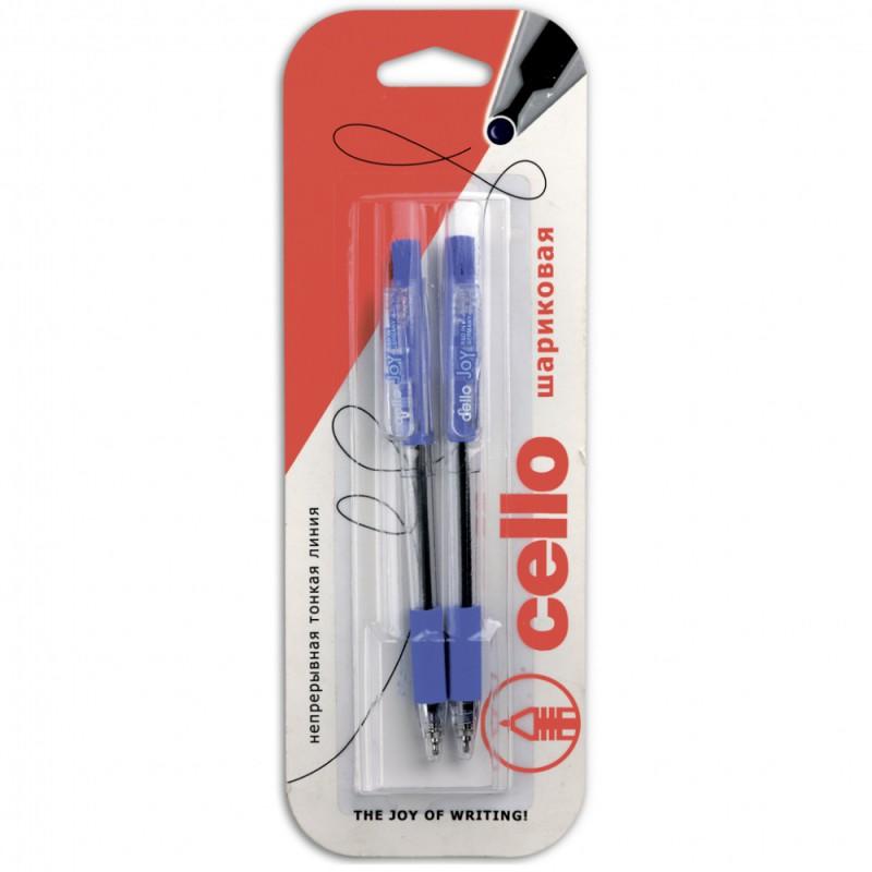 Ручка шариковая Cello GRIPPER 0.5мм черный/синий блистер (2шт)