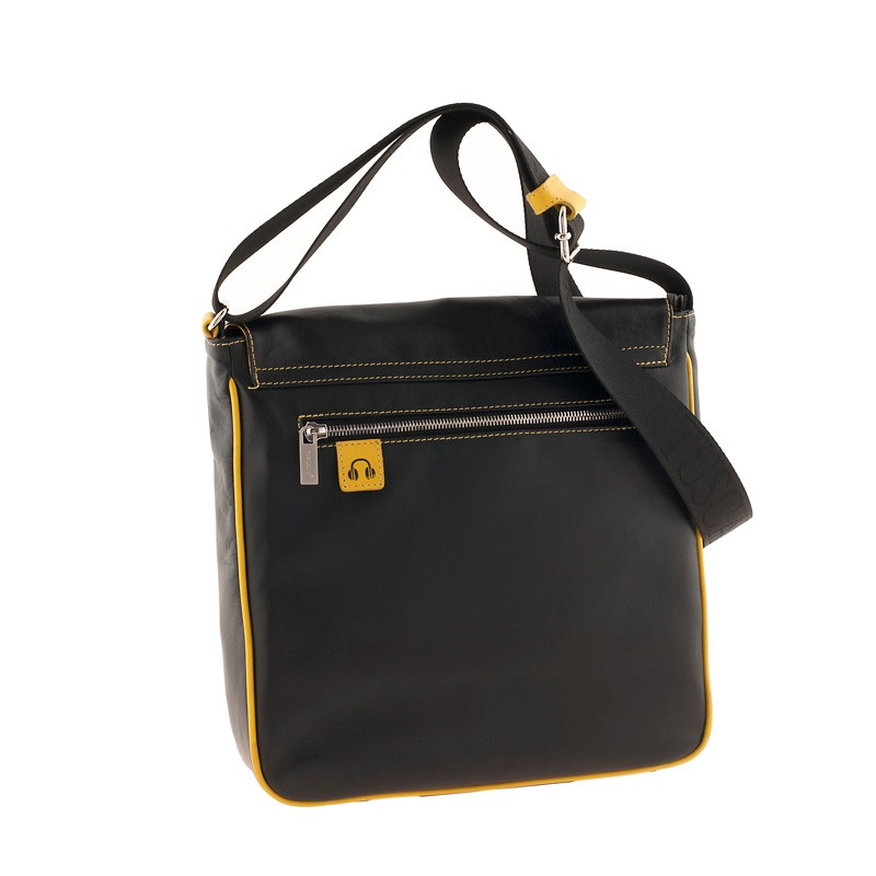 Сумка-планшет Tuscans 27x28x8см черный натур кожа отд желтая с отд для Ipad (TS-20005-092)