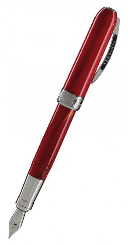 Ручка перьевая Visconti Rembrandt корпус красн смола отд паллад перо сталь (Vs-482-90) [48290]