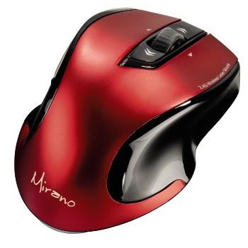Мышь HAMA H-53877 лазерная беспроводная USB, красный и черный [00053877]
