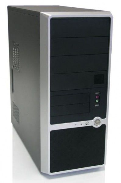 Корпус ATX FOXCONN TSAA-460, 350Вт,  черный и серебристый