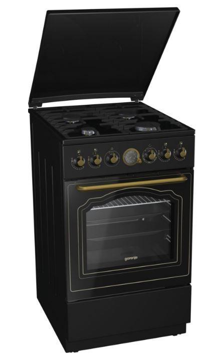 Газовая плита GORENJE GI52CLB,  газовая духовка,  черный