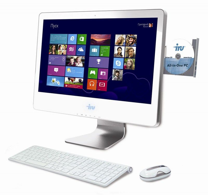 Моноблок IRU 308, Intel Pentium G2010, 4Гб, 1Тб, nVIDIA GeForce GT630M - 1024 Мб, DVD-RW, Windows 8, белый