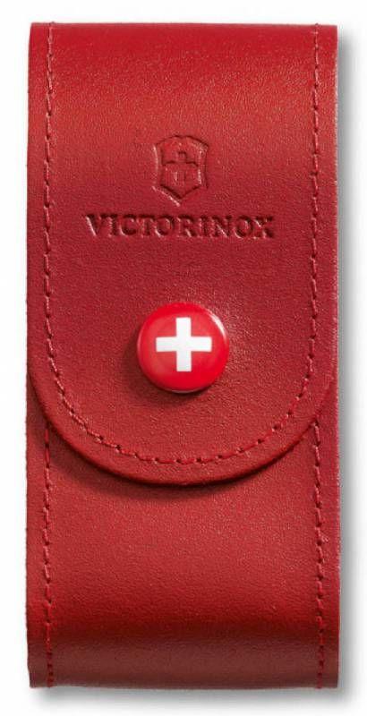 Чехол Victorinox 4.0521.1 нат.кожа петля красный без упаковки