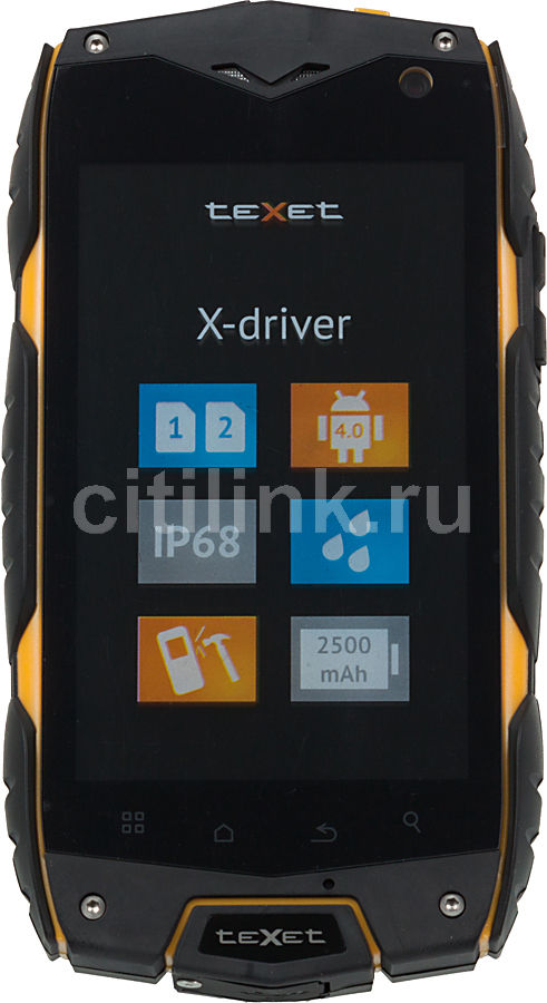 Смартфон TEXET X-driver TM-4104R  черный/желтый