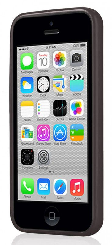 Чехол (клип-кейс) GGMM Pure-5C, для Apple iPhone 5c, черный [ipc00102]