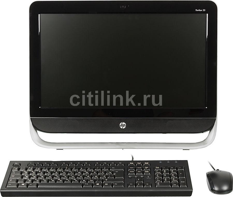 Моноблок HP Pavilion 20-b300er, AMD E1 1500, 4Гб, 500Гб, AMD Radeon HD 7310, DVD-RW, Windows 8, черный и серебристый [d7e40ea]