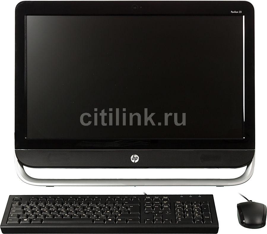 Моноблок HP Pavilion 23-b300er, Intel Pentium G2030, 4Гб, 1000Гб, nVIDIA GeForce GT710A - 1024 Мб, DVD-RW, Windows 8, черный и серебристый [d7e47ea]