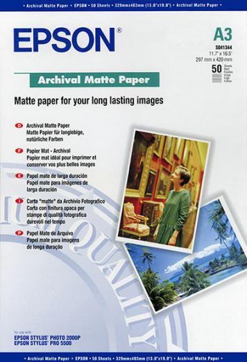 Бумага EPSON C13S041344 Archival Matte Paper EPSON A3