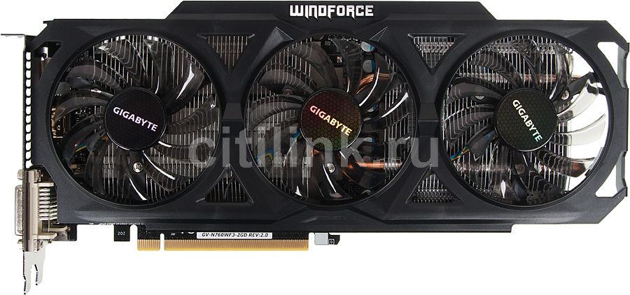 Видеокарта GIGABYTE GeForce GTX 760,  2Гб, GDDR5, Ret [gv-n760wf3-2gd]