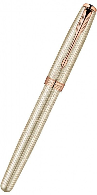 Ручка роллер Parker Sonnet T535 (1859491) Sterling Silver PGT серебро 925 пробы 16.96г F черные черн