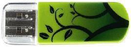 Флешка USB VERBATIM Store n Go Mini Elements Earth 8Гб, USB2.0, зеленый и рисунок [98160]