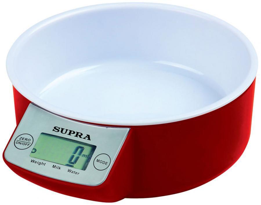 Весы кухонные SUPRA BSS-4085,  красный