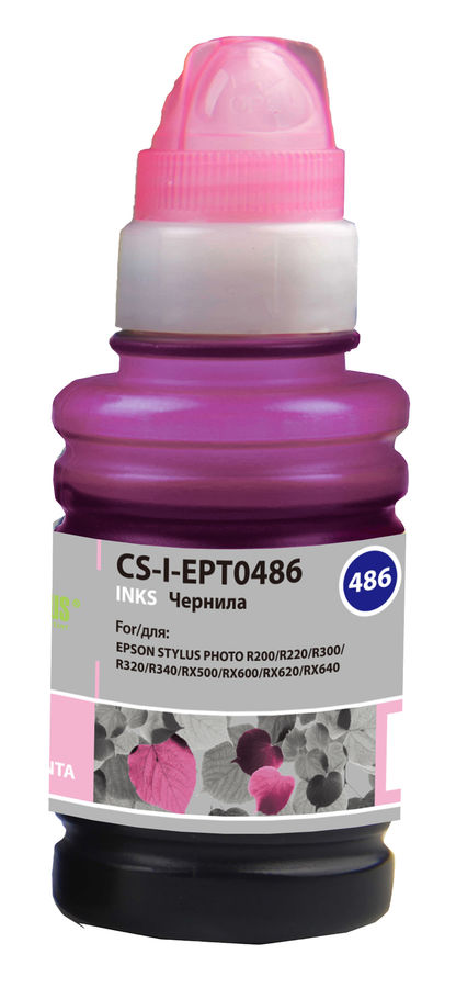 Чернила CACTUS CS-I-EPT0486, для Epson, 100мл, светло-пурпурный