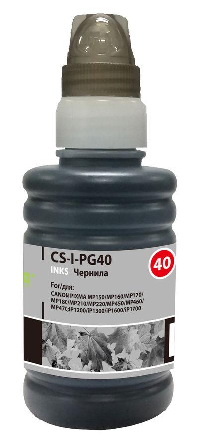 Чернила CACTUS CS-PG40, для Canon, 100мл, черный [cs-i-pg40]