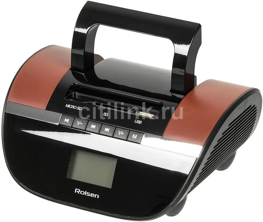Аудиомагнитола ROLSEN RBM413BR,  коричневый