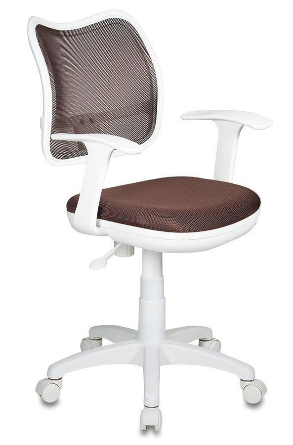 Кресло детское БЮРОКРАТ CH-W797, на колесиках, ткань, коричневый [ch-w797/br/tw-14c]