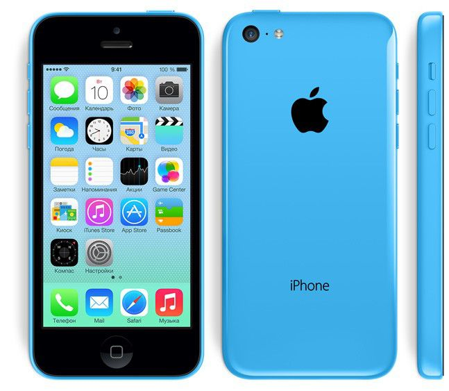 Смартфон APPLE iPhone 5c MF323ZP/A  16Gb, голубой