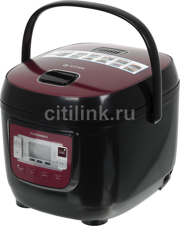 Мультиварка VITEK VT-4200,  800Вт,   красный [4200-vt-01]