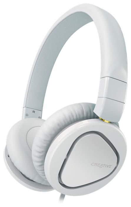 Наушники с микрофоном CREATIVE HITZ MA2600,  51EF0650AA003,  накладные, белый