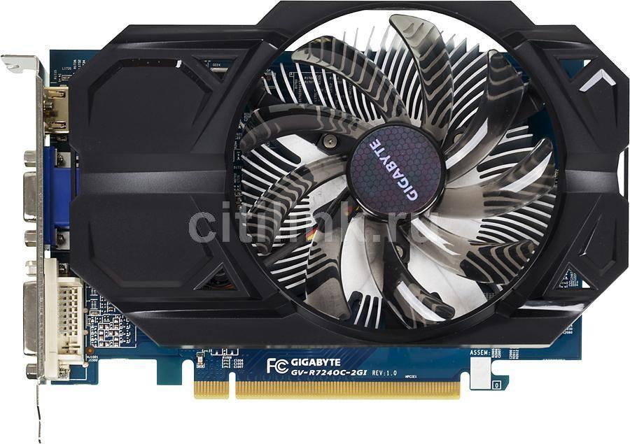 Видеокарта GIGABYTE AMD  Radeon R7 240 ,  GV-R724OC-2GI,  2Гб, DDR3, Ret