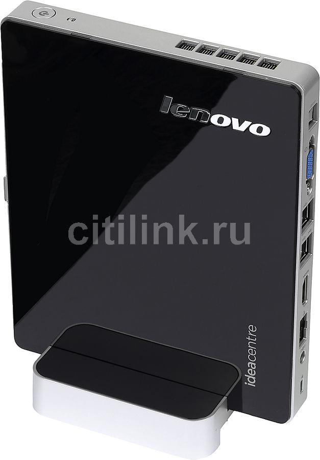 Неттоп  LENOVO IdeaCentre Q190,  Intel  Core i3  3217U,  DDR3 4Гб, 500Гб,  Intel HD Graphics 4000,  без ODD,  CR,  Free DOS,  черный и серебристый [57319617]