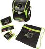 Ранец Step ByStep Touch Wild Cat черный/зеленый Пантера 5 предметов