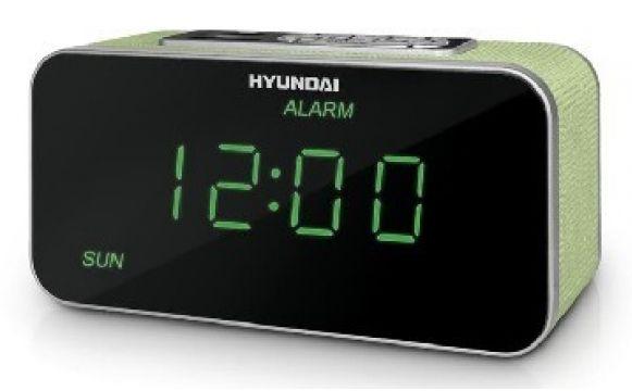 Радиобудильник HYUNDAI H-1503U, белая подсветка,  салатовый