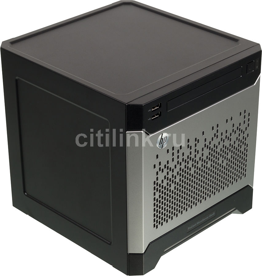 "Сервер HPE ProLiant MicroServer Gen8 1xG1610T 1x2Gb x4 3.5"" SATA B120i 1G 2P 1x200W (712317-421)"