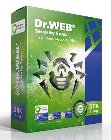 ПО DR.Web Security Space Pro 3 ПК/1 год (AHW-B-12M-3-A2)