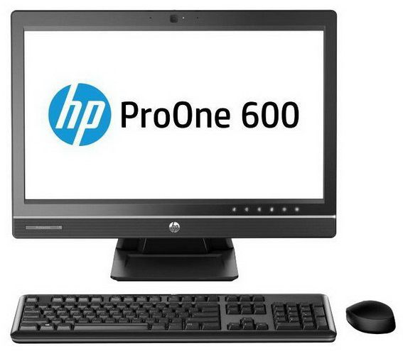 Моноблок HP ProOne 600 G1, Intel Core i5 4570S, 4Гб, 1000Гб, AMD Radeon HD 7650A - 2048 Мб, DVD-RW, Windows 7 Professional, черный [f3x03ea]