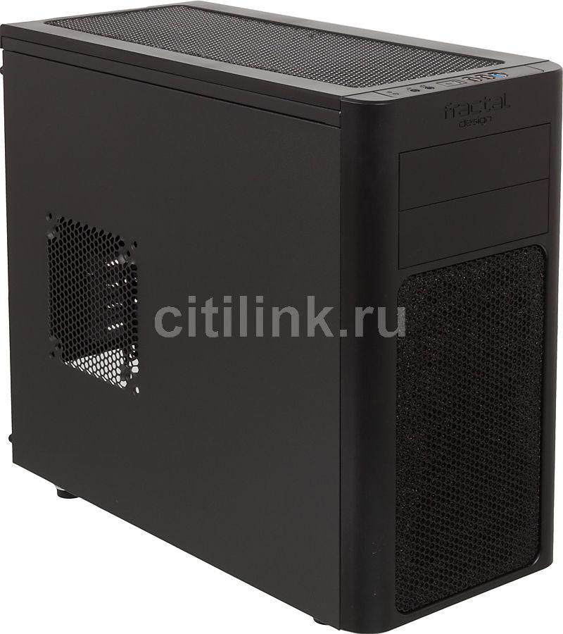 Корпус mATX FRACTAL DESIGN Arc Mini FD-CA-ARC-MINI-BL, Mini-Tower, без БП,  черный