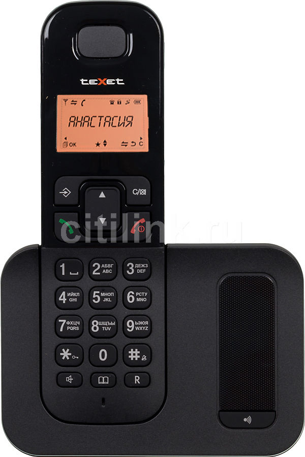 Радиотелефон TEXET TX-D6605A,  черный [tx-d6605а]