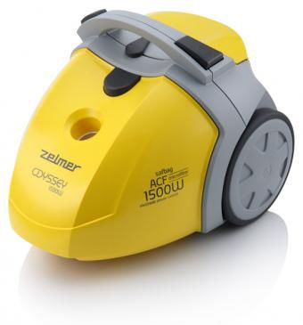 Пылесос ZELMER 450.0EH, 1500Вт, желтый/серый