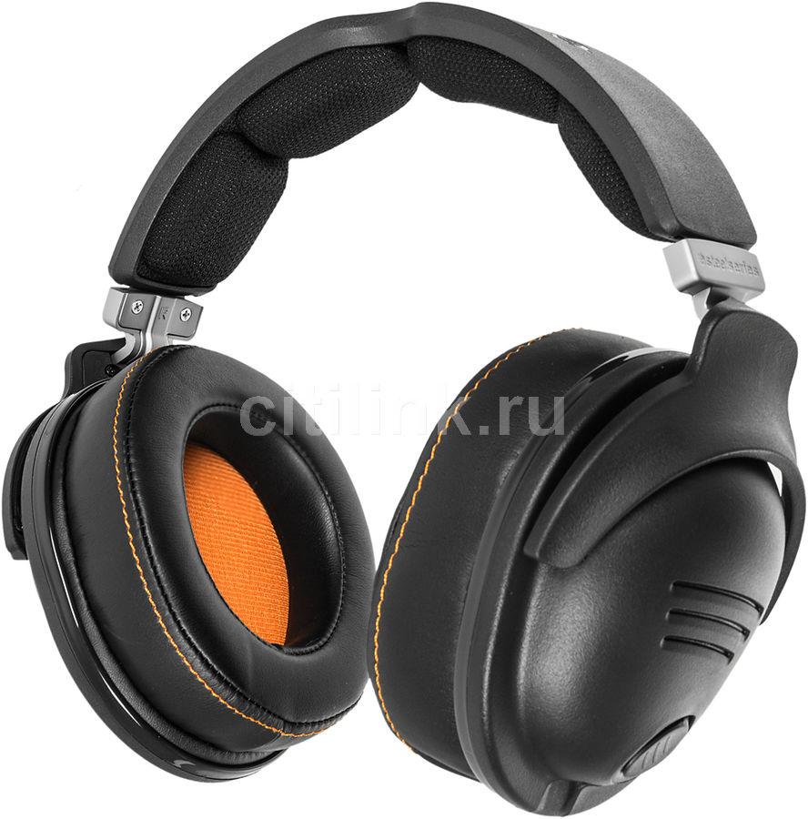Наушники с микрофоном STEELSERIES 9H,  61101,  мониторы, черный