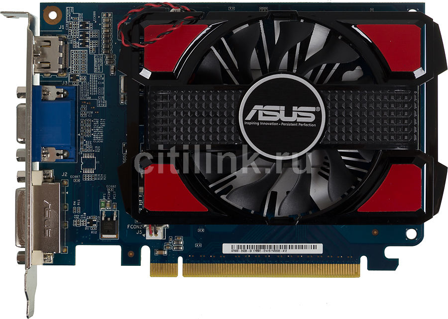 Видеокарта ASUS GeForce GT 630,  2Гб, DDR3, Ret [gt630-2gd3-v2]