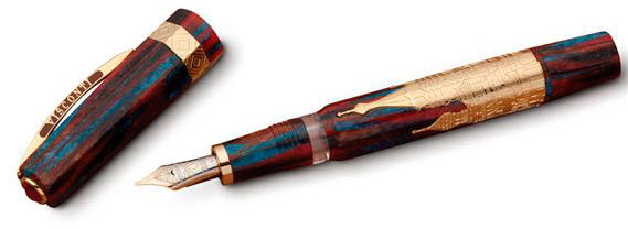 Ручка перьевая Visconti San Basil корпус целлул вставка вермейл перо паллад 23кт F (VS-663-18F) [66318pda55dtf]