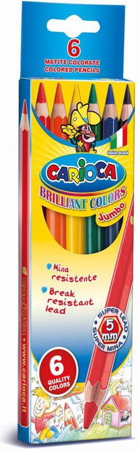 Карандаши цветные Universal CARIOCA JUMBO 41407 6цв. коробка/европод.