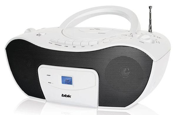 Аудиомагнитола BBK BX310UC,  белый и черный