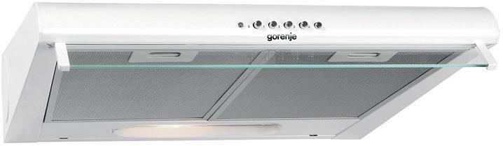 Вытяжка козырьковая Gorenje DU6446W белый управление: кнопочное (1 мотор)