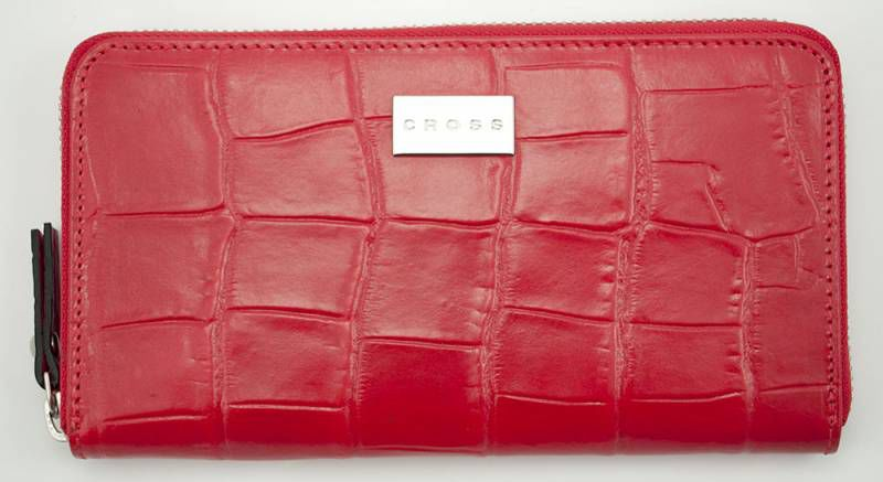 Кошелек Cross Leather Coco на молнии Red (AC538081-2) красный кожа