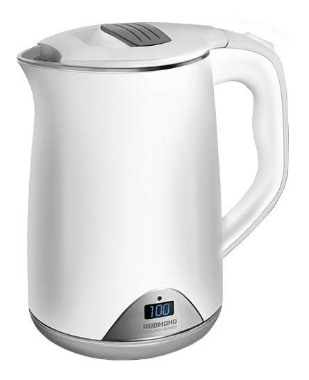 Чайник электрический REDMOND RK-M125D, 1500Вт, белый