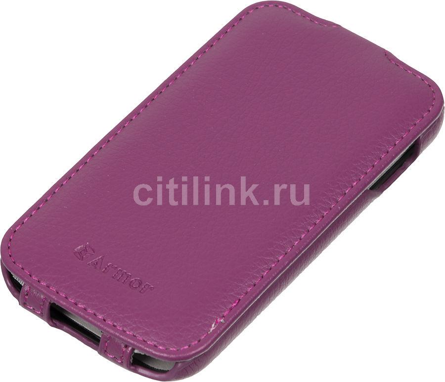 Чехол (флип-кейс) ARMOR-X Flip Full, для Samsung Galaxy Ace 3/Ace 3 Duos, фиолетовый