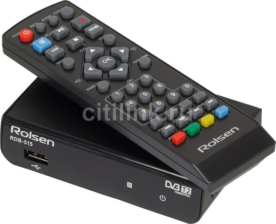 Ресивер DVB-T2 ROLSEN RDB-515,  черный [1-rldb-rdb-515]