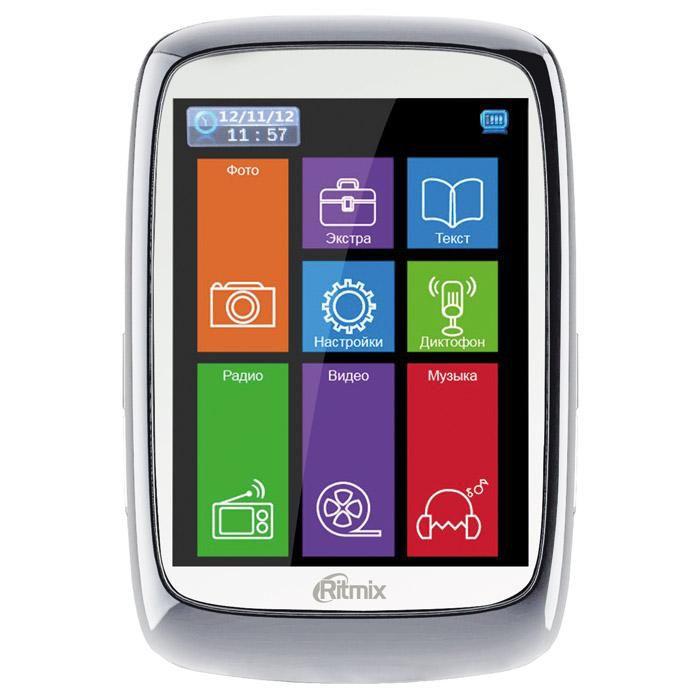 MP3 плеер RITMIX RF-8300 flash 4Гб белый [15116775]