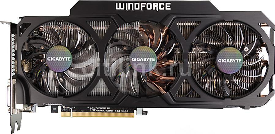 Видеокарта GIGABYTE Radeon R9 290X,  GV-R929XOC-4GD,  4Гб, GDDR5, OC,  Ret