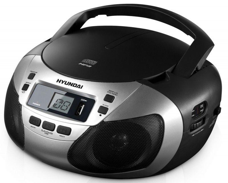 Аудиомагнитола HYUNDAI H-1447U,  серебристый
