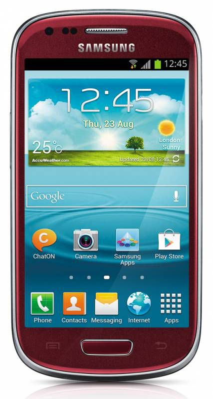 Смартфон SAMSUNG Galaxy S III mini VE GT-I8200,  красный