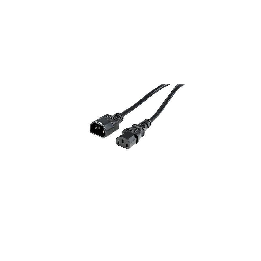 Кабель питания HAMA 00046558,  IEC C13 -  IEC C14,  круглое,  1.5м,  черный [000465580001]