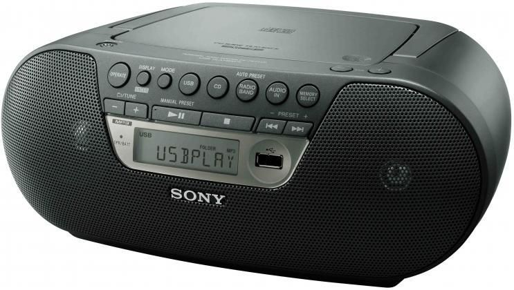 Аудиомагнитола SONY ZS-PS30,  черный